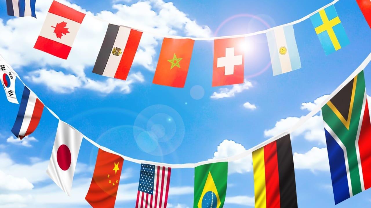 万国旗のイメージ写真